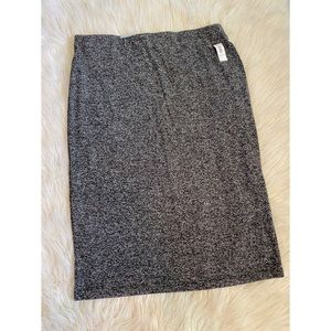🌈2/$20 Sweater Knit Heather Grey Midi Skirt